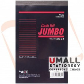image of UNI JUMBO CASH BILL NCR 3 PLY X 50'S (U5886) 5 IN 1