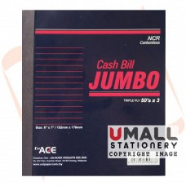 image of UNI JUMBO NCR CASH BILL 50'S  X 3PLY (U-6786)