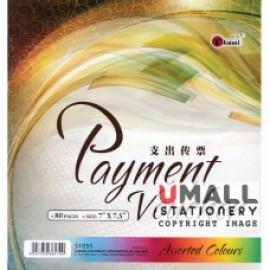 """image of UKAMI MIX COLOUR PAYMENT VOUCHER 7"""" X 7.5"""" 80'S (S1055)"""