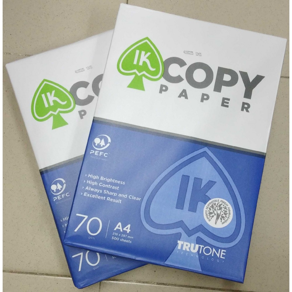 IK Copy Photocopy Paper 70gsm A4 500's (5 in 1)