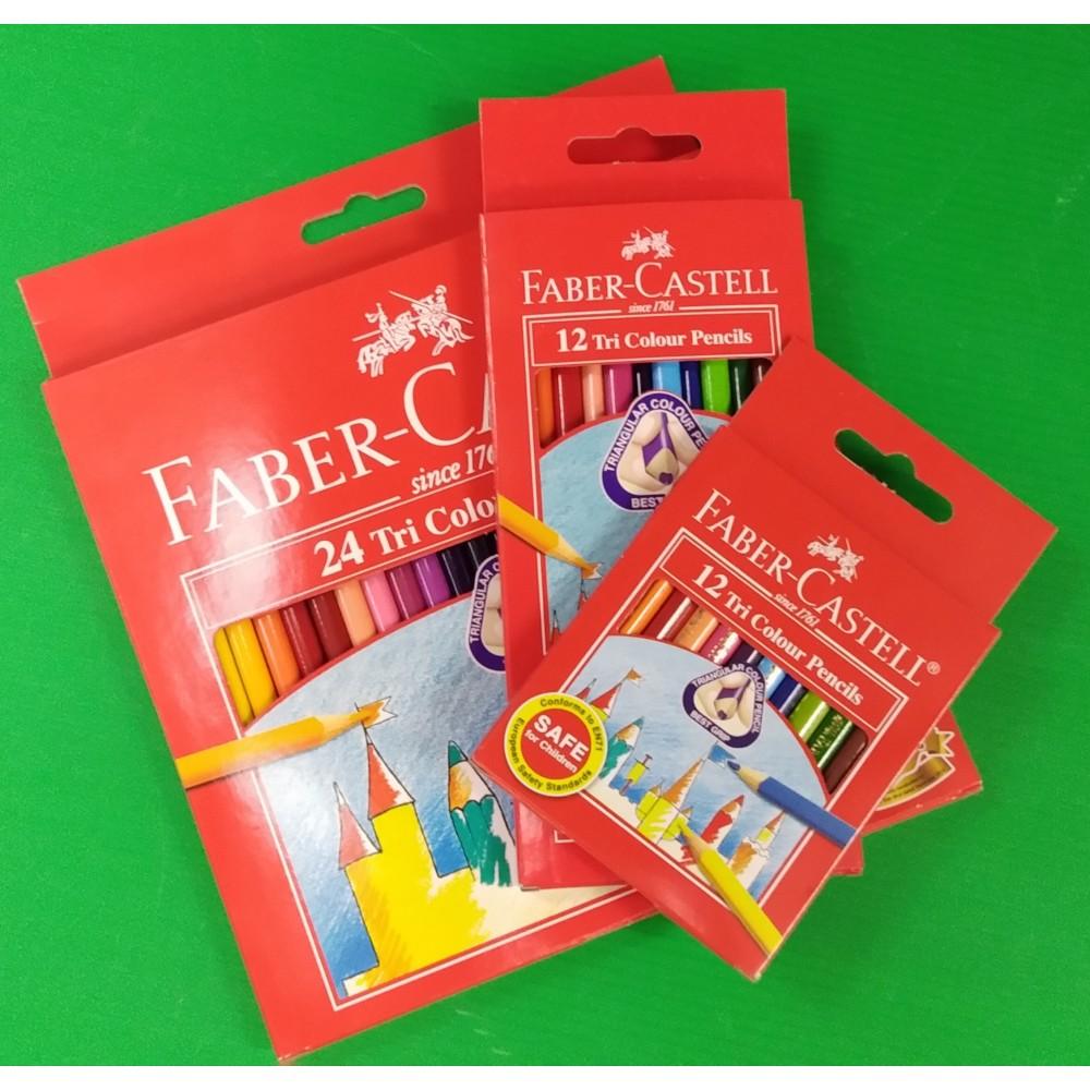 FABER-CASTELL TRI COLOUR PENCILS
