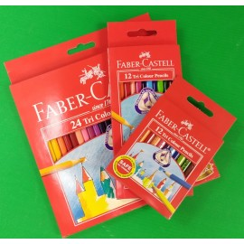 image of FABER-CASTELL TRI COLOUR PENCILS