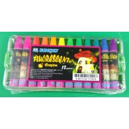 image of Buncho Fluorescent Crayon (12 Colors)