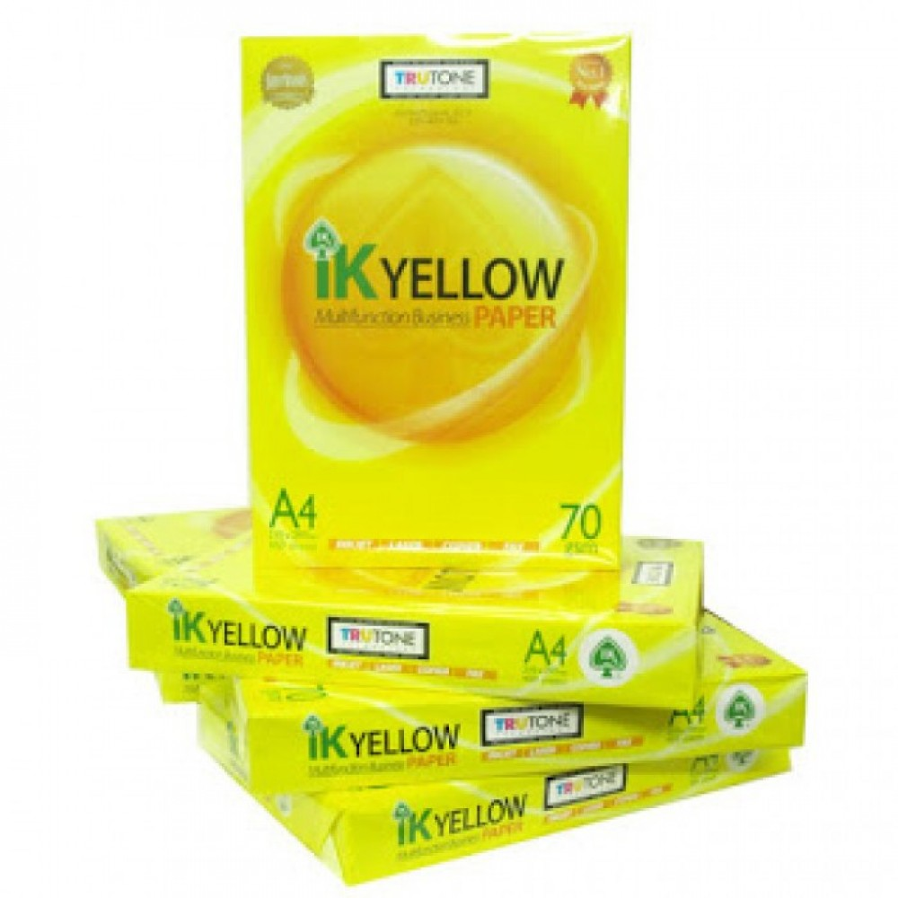IK Yellow A4 70gsm Paper 450's