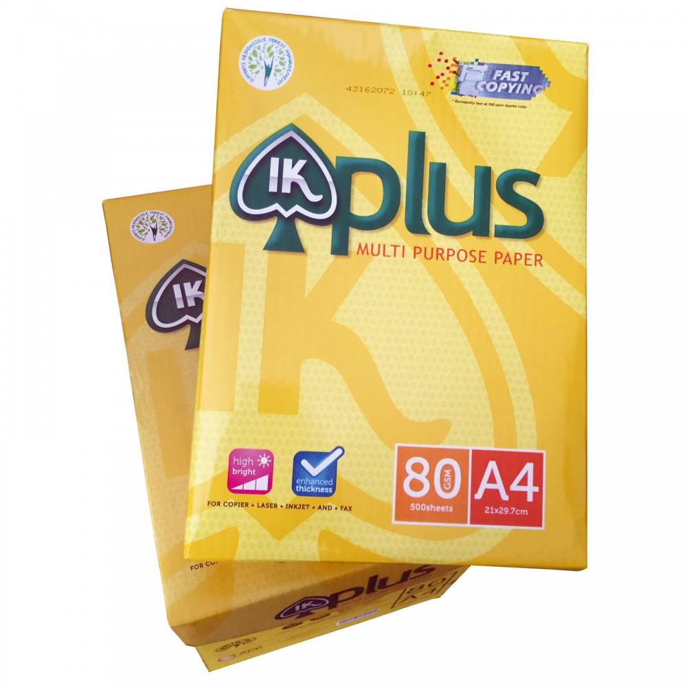1 Carton IK Plus A4 Paper 80gsm 500Sheets/Ream