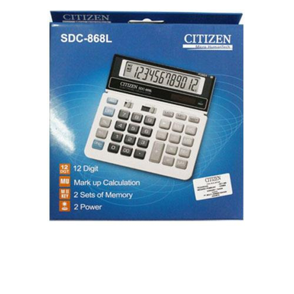 CITIZEN CALCULATOR (12 DIGITS) SDC-868L