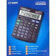 image of CITIZEN CALCULATOR (12 DIGITS) CT-666N