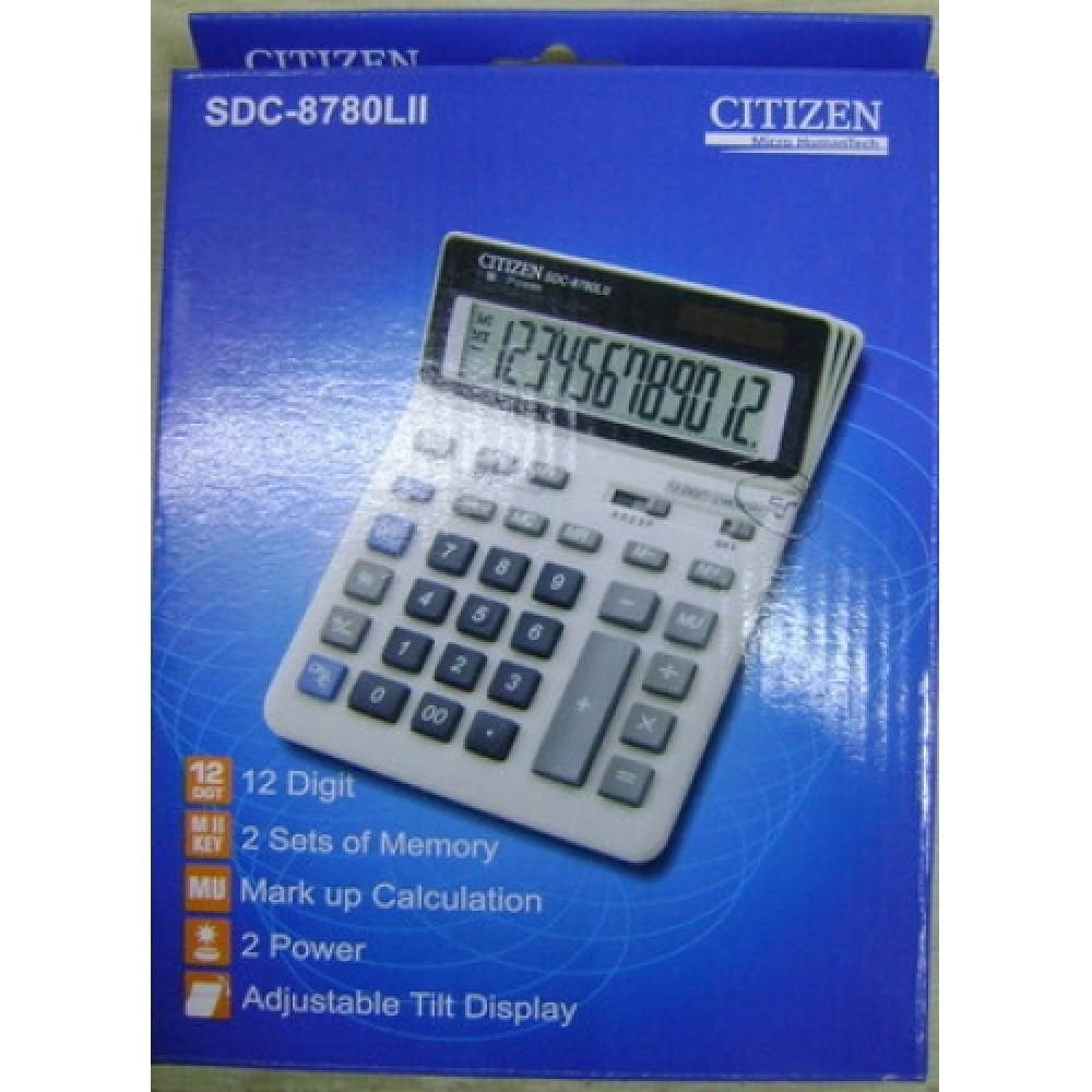 CITIZEN CALCULATOR (12 DIGITS) SDC-8780LII