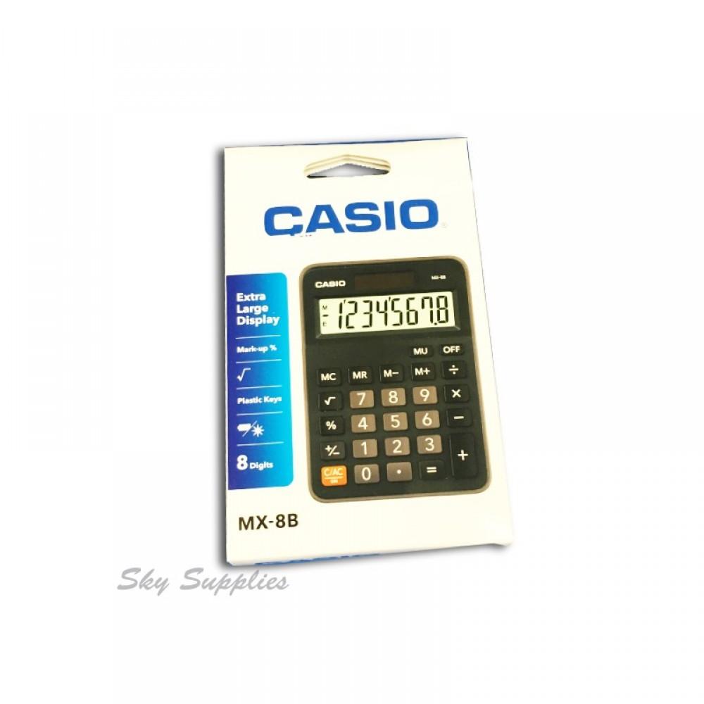 CASIO CALCULATOR 8 DIGITS MX-8B