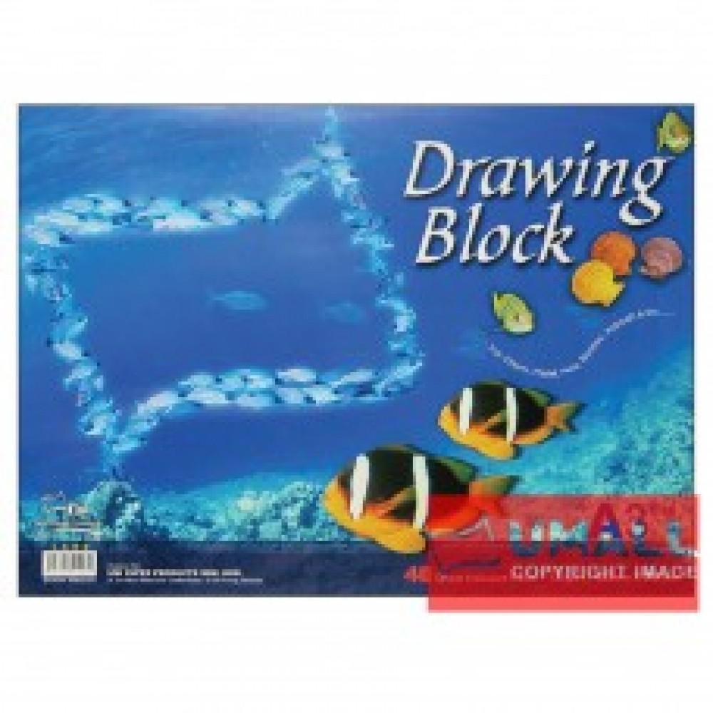 UNI DRAWING BLOCK 135G A3-40'S (SDB1403)