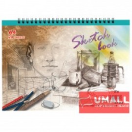 image of UNI SKETCH BOOK A4-20'S (S1353)