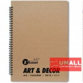 image of UKAMI ART & DECOR RING SKETCH BOOK 165GSM A4-40'S (S2313)