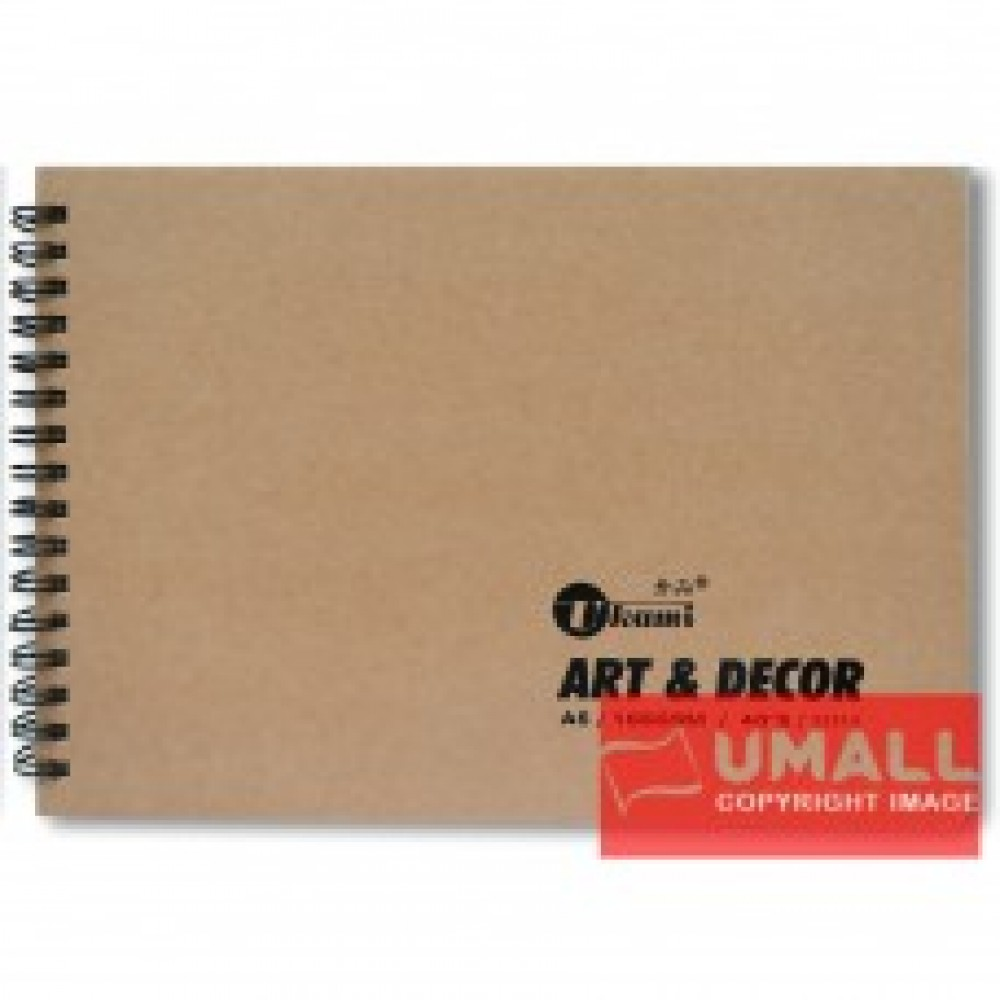 UKAMI ART & DECOR RING SKETCH BOOK 165GSM A5-40'S (S3313)