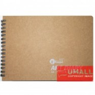image of UKAMI ART & DECOR RING SKETCH BOOK 165GSM A5-40'S (S5313)