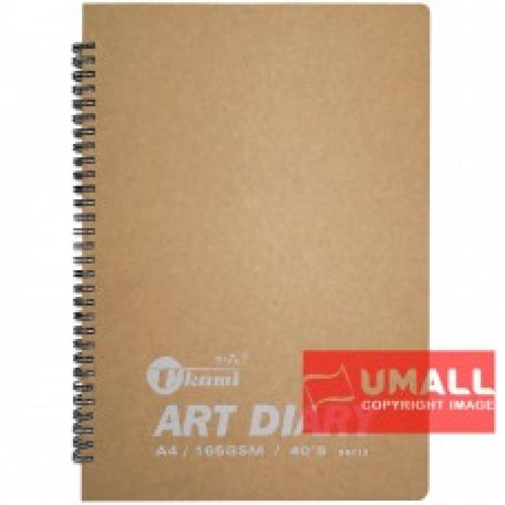 UKAMI ART & DECOR RING SKETCH BOOK 165GSM A4-40'S (S8313)