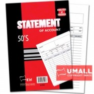 """image of UNI STATEMENT OF ACCOUNT 50'S 10"""" X 7"""" (S-7510) 2 FOR"""