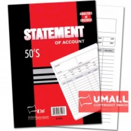 "image of UNI STATEMENT OF ACCOUNT 50'S 10"" X 7"" (S-7510) 2 FOR"