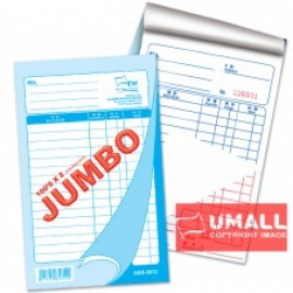 "image of UNI JUMBO BILL BOOK 2 PLY X 100'S 5"" X 8"" (SBB-5812) 5 IN 1"