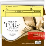 "UNI PETTY CASH VOUCHER 100'S 8"" X 5.5"" (SV100)"