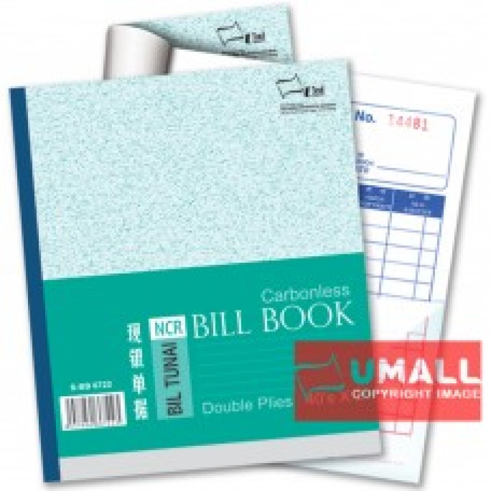 "UNI BILL BOOK NCR 2 PLY X 40'S 6"" X 7"" (S-BB6722) 10 IN 1"