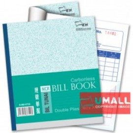 "image of UNI BILL BOOK NCR 2 PLY X 40'S 6"" X 7"" (S-BB6722) 10 IN 1"
