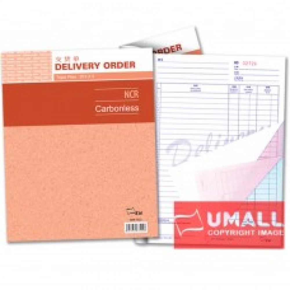 """UNI DELIVERY ORDER NCR 3 PLY X 25'S 10"""" X 8"""" (SBB-7522)"""