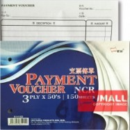 image of UNI NCR PAYMENT VOUCHER 3PLY X 50'S (S-V1022)