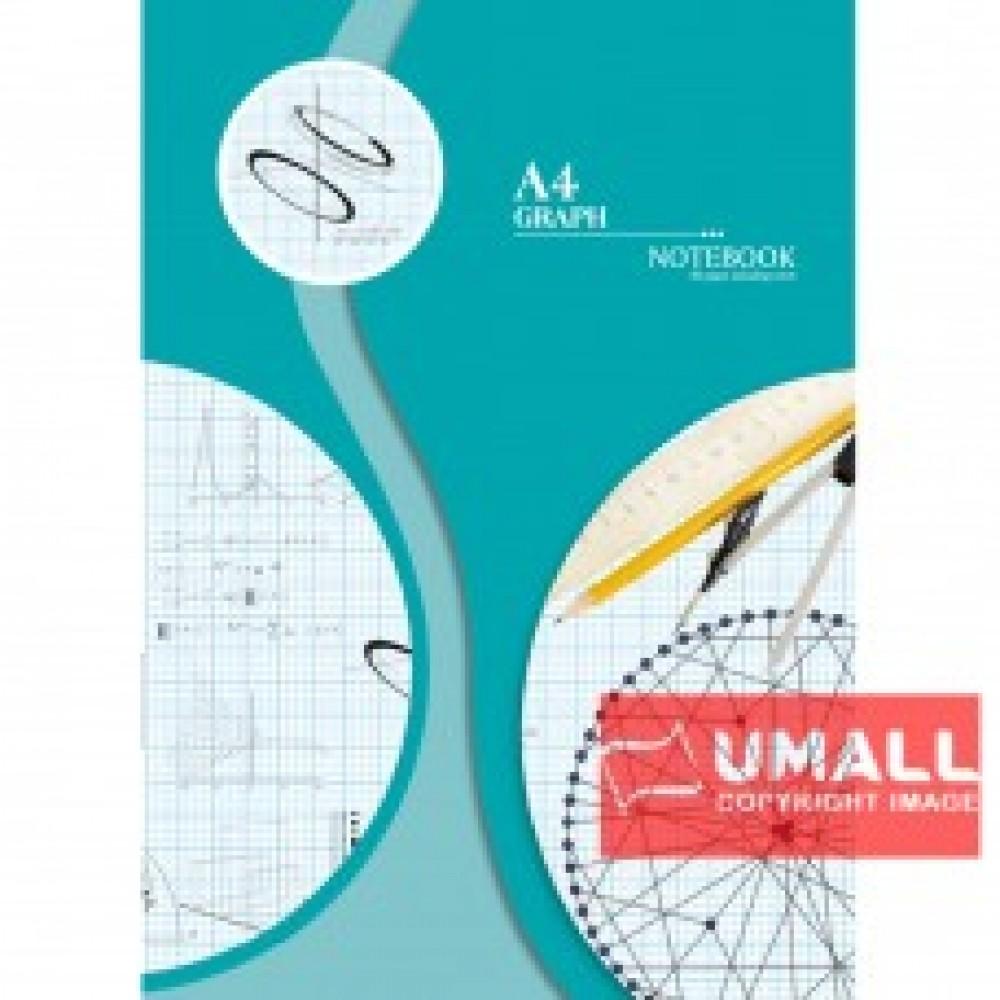 UNI GRAPH NOTE BOOK A4-80P (S-8014) 2 FOR