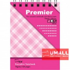 image of UNI PREMIER RING NOTE BOOK 70G A7-120P (S-3142) 5 FOR