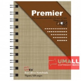 image of UNI PREMIER RING NOTE BOOK 70G A7-120P (S-3143) 5 FOR
