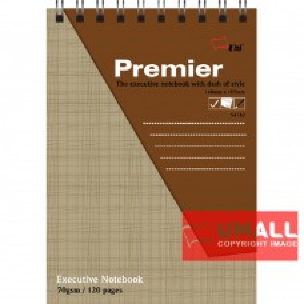 UNI PREMIER RING NOTE BOOK 70G A6-120P (S-4162) 2 FOR