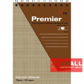 image of UNI PREMIER RING NOTE BOOK 70G A6-120P (S-4162) 2 FOR