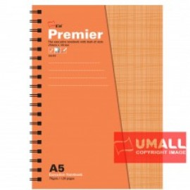 image of UNI PREMIER RING NOTE BOOK 70G A5-120P (S-6183)
