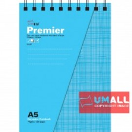 image of UNI PREMIER RING NOTE BOOK 70G A5-120P (S-6182)
