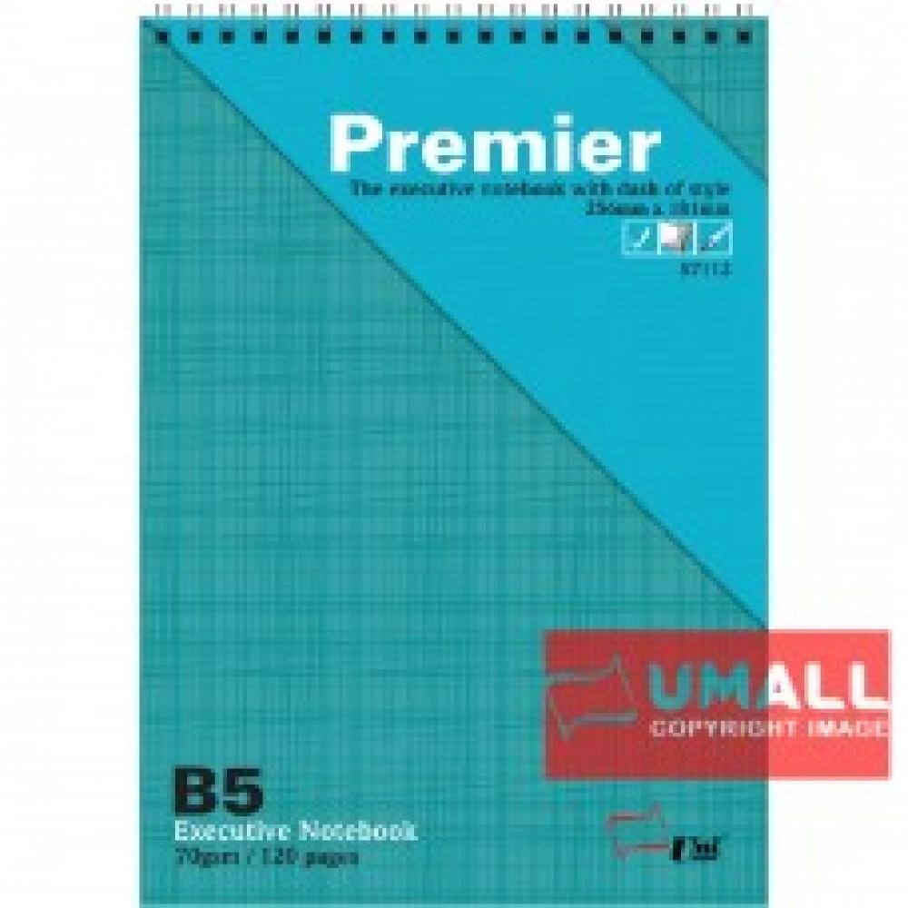 UNI PREMIER RING NOTE BOOK 70GSM B5-120P (S7112)