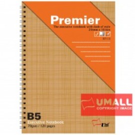 image of UNI PREMIER RING NOTE BOOK 70G B5-120P (S-7113)