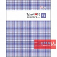 image of UNI TAKE NOTE SERIES PVC COVER EXERCISE BOOK F5-240P (S-6240)