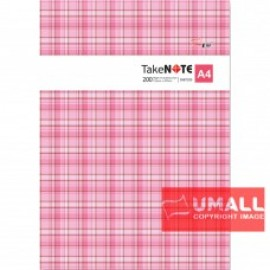 image of UNI PVC COVER NOTE BOOK A4-200P (SNB-7200)