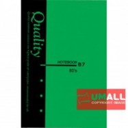 image of UNI QUALITY NOTE BOOK B7 80'S (S-NB3377) 5 FOR