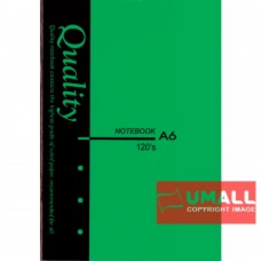 UNI QUALITY NOTE BOOK A6 120'S (S-NB8221) 3 FOR
