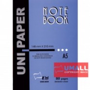image of UNI NOTE BOOK A5-80P (SNB-6688) 3 FOR