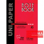 image of UNI PAPER NOTE BOOK A5-120P (SNB-8866) 2 FOR