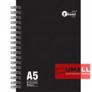 image of UKAMI RING NOTE BOOK 80G A5-120'S (S-6181)