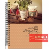image of UKAMI RING NOTE BOOK 70G 120'S (S6385)