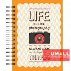 image of UKAMI H/C RING NOTE BOOK A5 (S-8139)