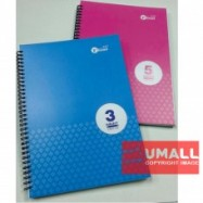 image of UKAMI 3-SUBJECT RING NOTE BOOK 80GSM A4 (S8510)