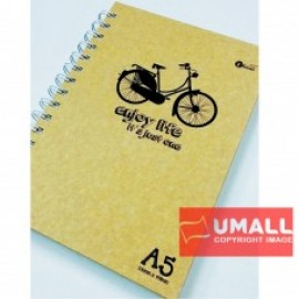 image of UKAMI IVORY RING NOTE BOOK A5 (S-8538A-D)