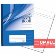 image of UNI NOTE BOOK 60G F5 80P (SBL801) 3 FOR