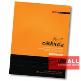image of UNI ORANGE EXERCISE BOOK 70G F5 80P (SBL803) 3 FOR