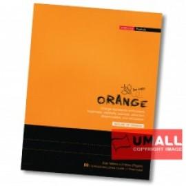 image of UNI ORANGE EXERCISE BOOK 70G F5 80P (SBL803) 3 FOR